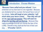 introduction choose wisdom6