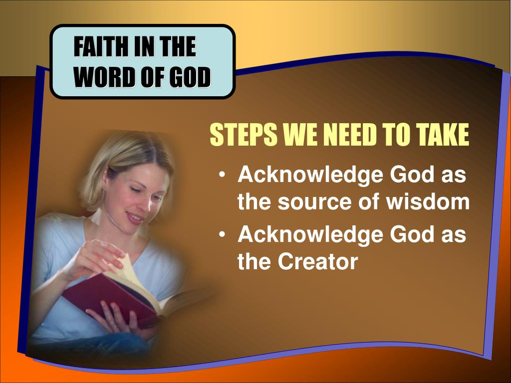 FAITH IN THE WORD OF GOD
