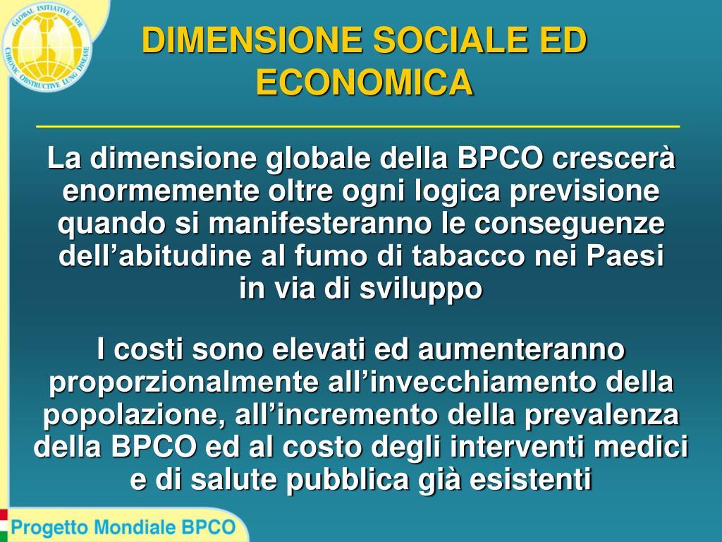 DIMENSIONE SOCIALE ED