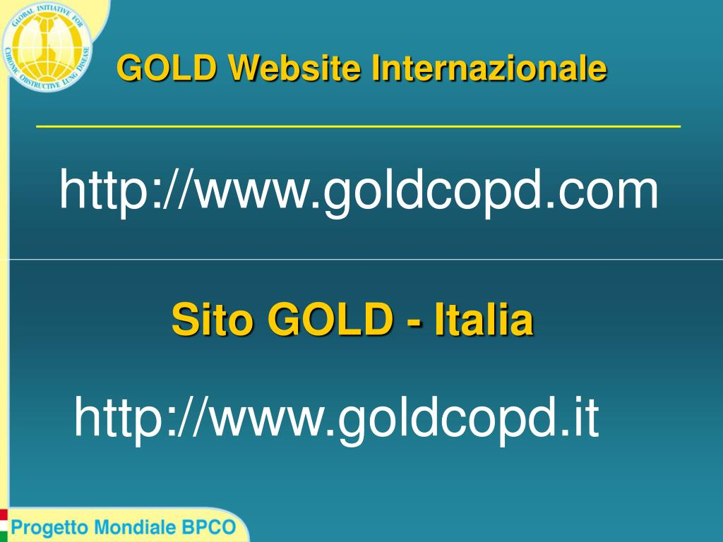 GOLD Website Internazionale