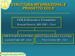 struttura internazionale progetto gold