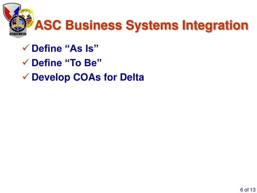 ASC Business Systems Integration