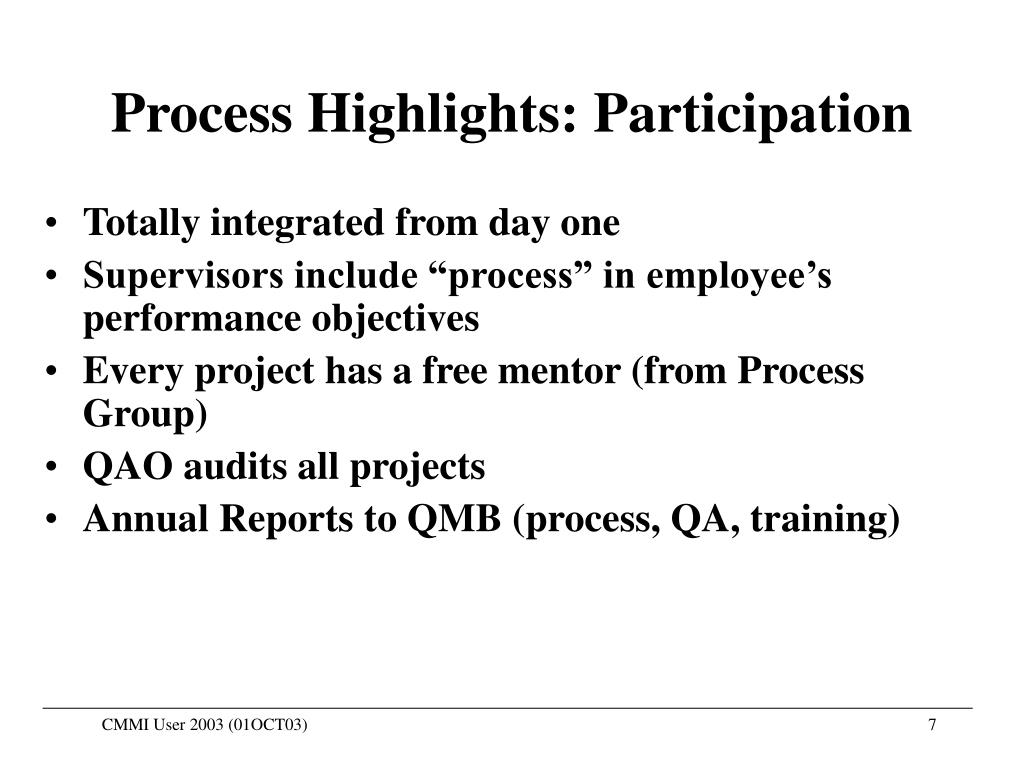 Process Highlights: Participation