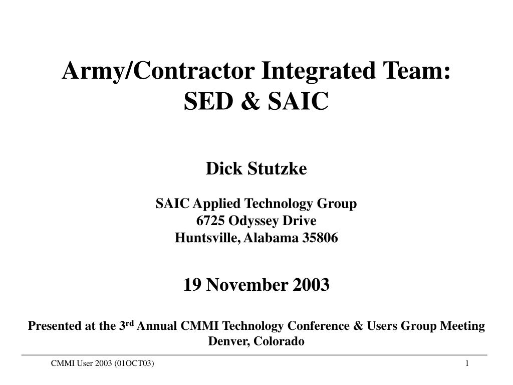 Army/Contractor Integrated Team:
