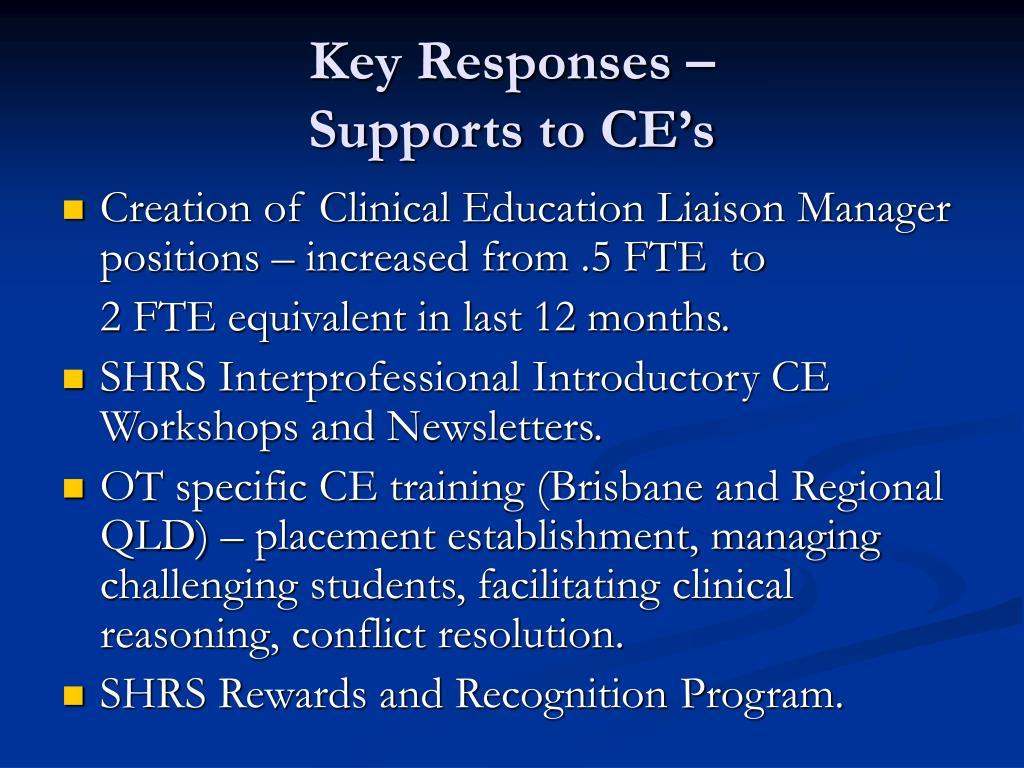 Key Responses –