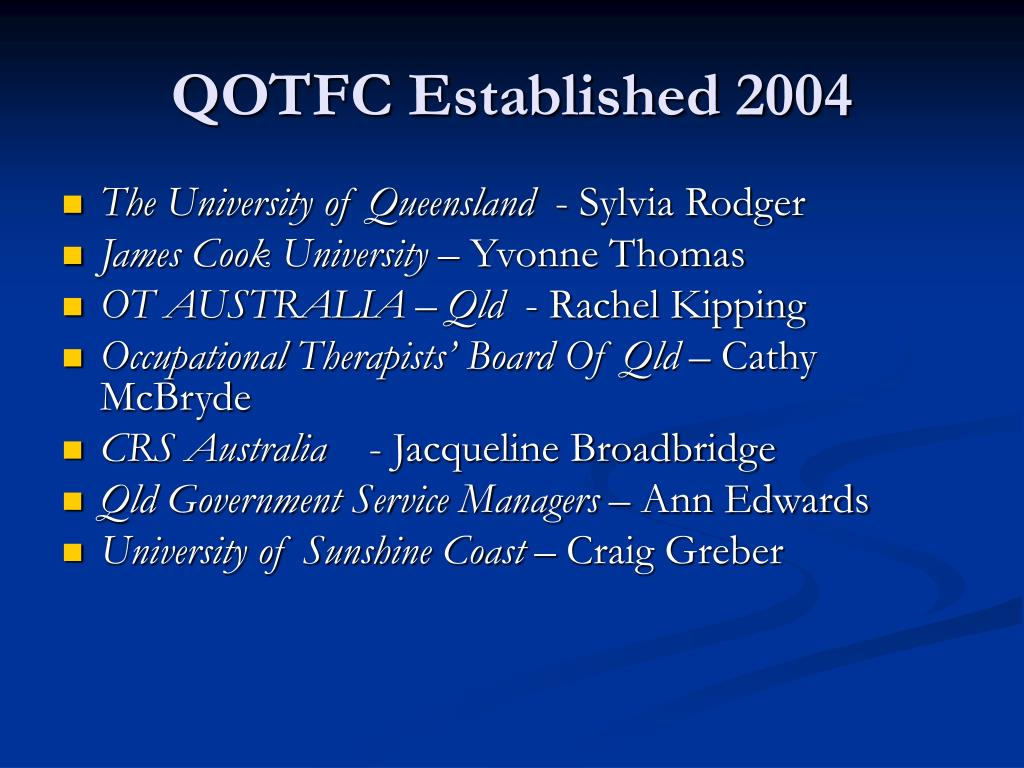 QOTFC Established 2004