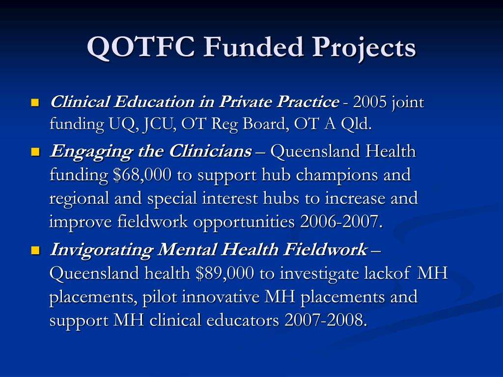 QOTFC Funded Projects