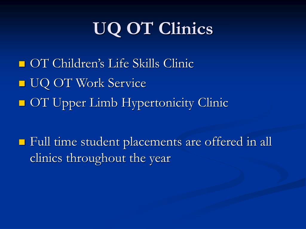 UQ OT Clinics