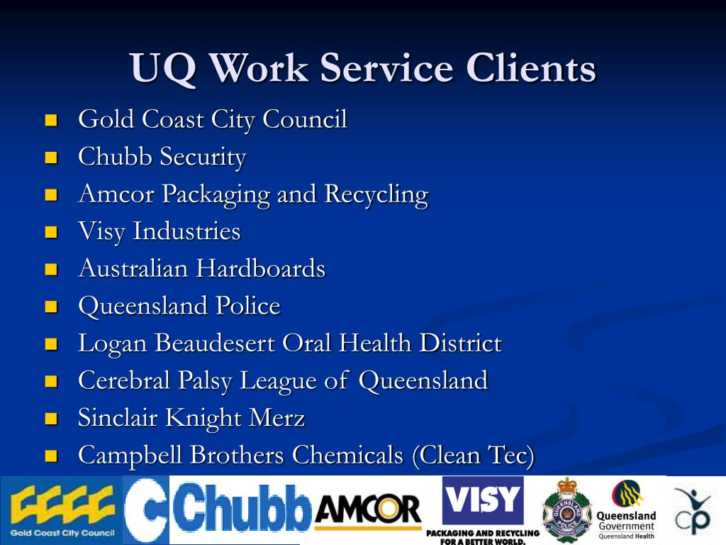 UQ Work Service Clients