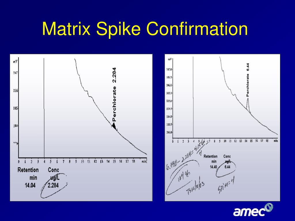 Matrix Spike Confirmation