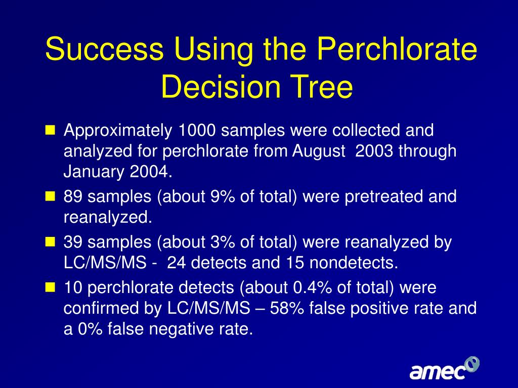 Success Using the Perchlorate Decision Tree