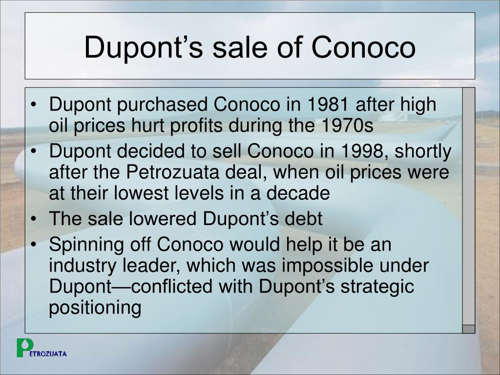 Dupont's sale of Conoco