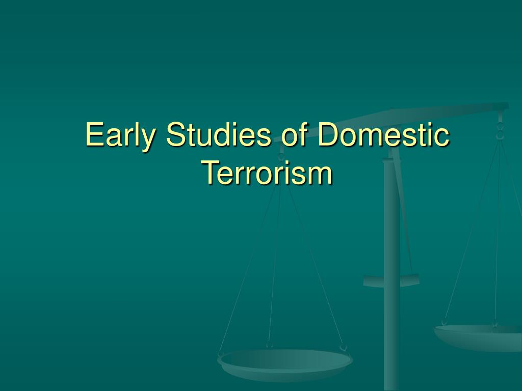 a study of terrorism Title: the study of terrorism: definitional problems author: brian michael jenkins subject: the paper defines terrorism and cites examples of international terrorist.