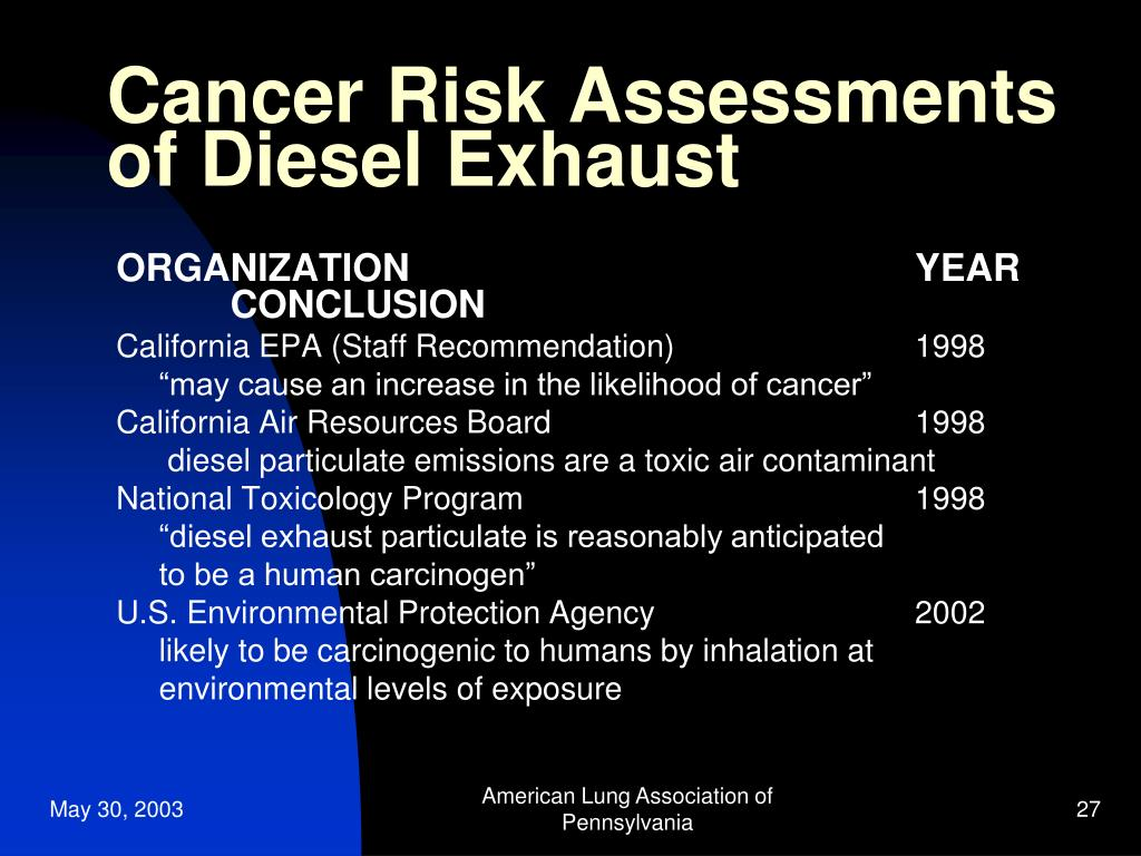 health effects  diesel exhaust powerpoint  id