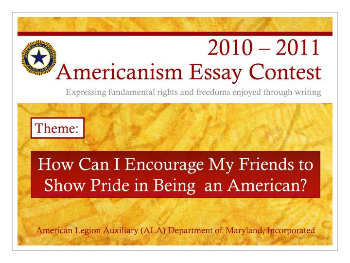 americanism essay or dissertation  sweepstakes fra