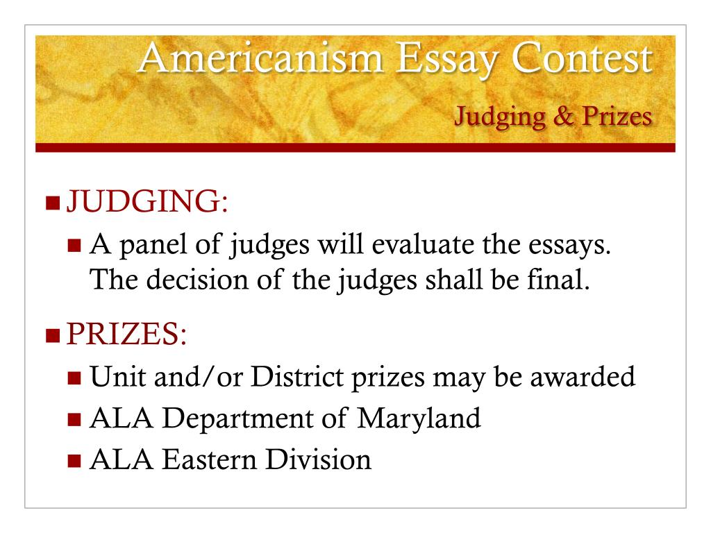 America beautiful essay contest