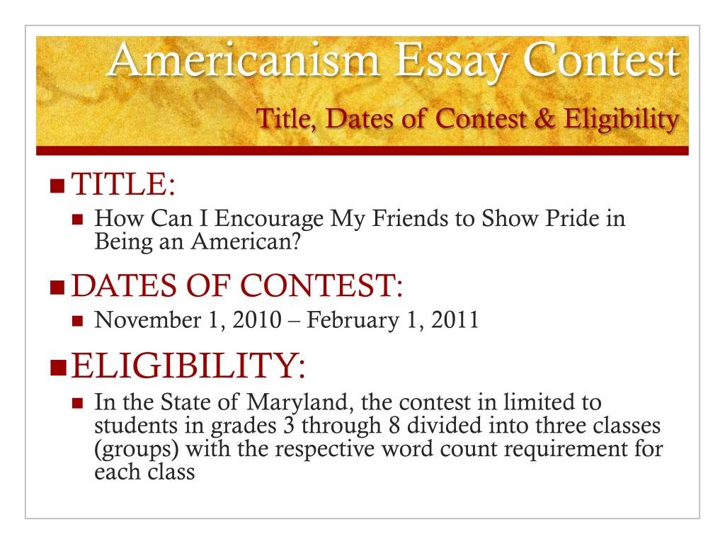 american legion auxiliary americanism essay contest Encourage participation in the americanism essay contest by increasing aired that the essay contest is a program of the american legion auxiliary, unit ___ in (town.