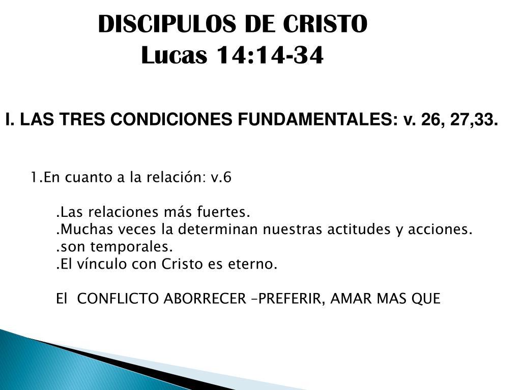 DISCIPULOS DE CRISTO