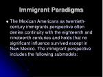 immigrant paradigms