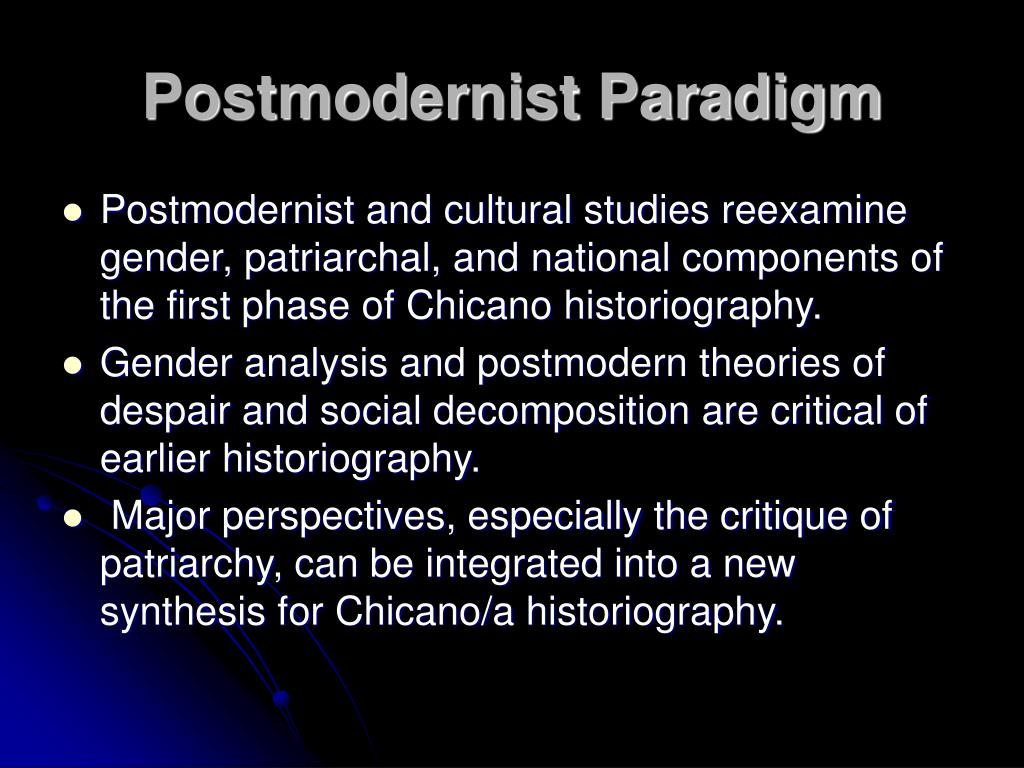 Postmodernist Paradigm