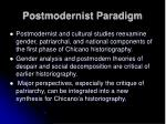 postmodernist paradigm