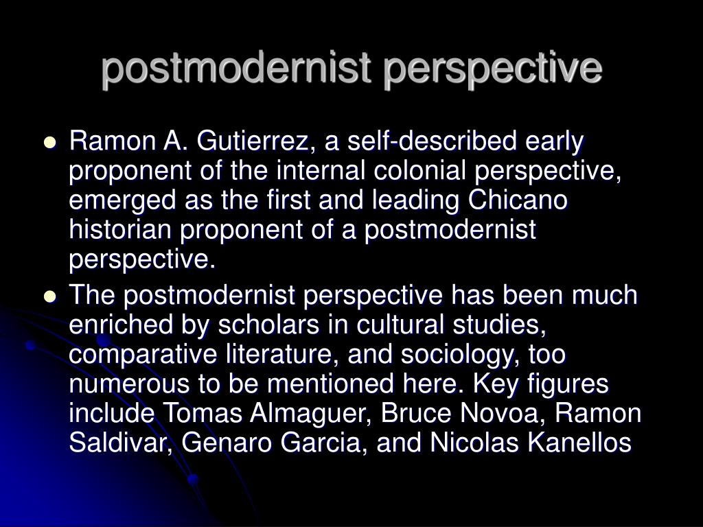 postmodernist perspective