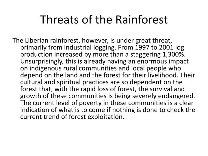 Threats of the Rainforest