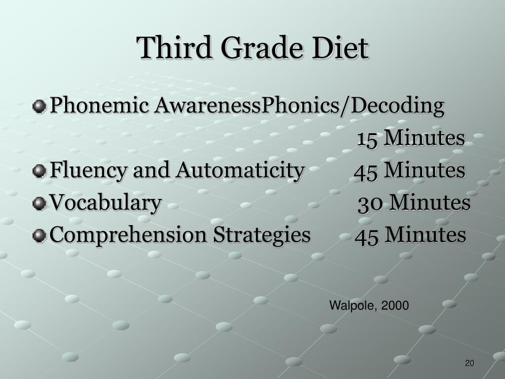 Third Grade Diet