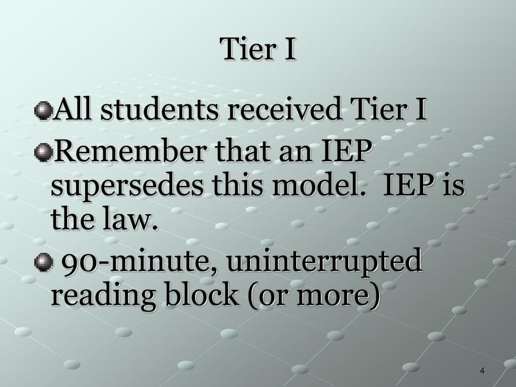 Tier I