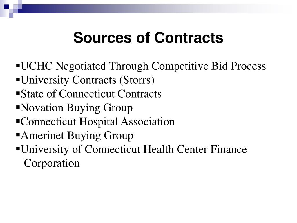 Sources of Contracts