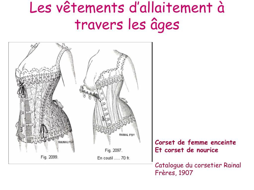 Les vêtements d'allaitement à travers les âges