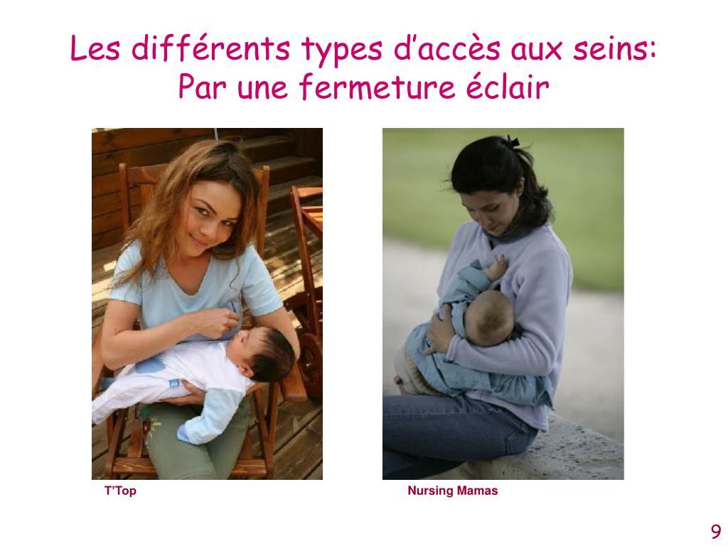 Les différents types d'accès aux seins: Par une fermeture éclair