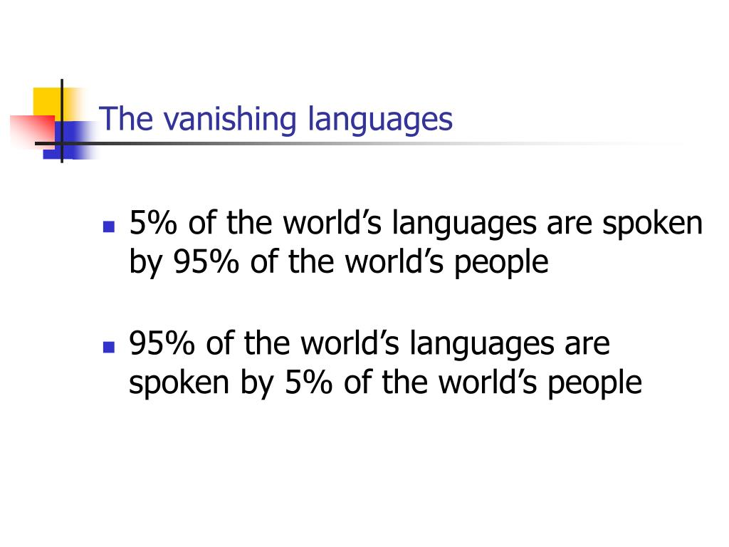 The vanishing languages