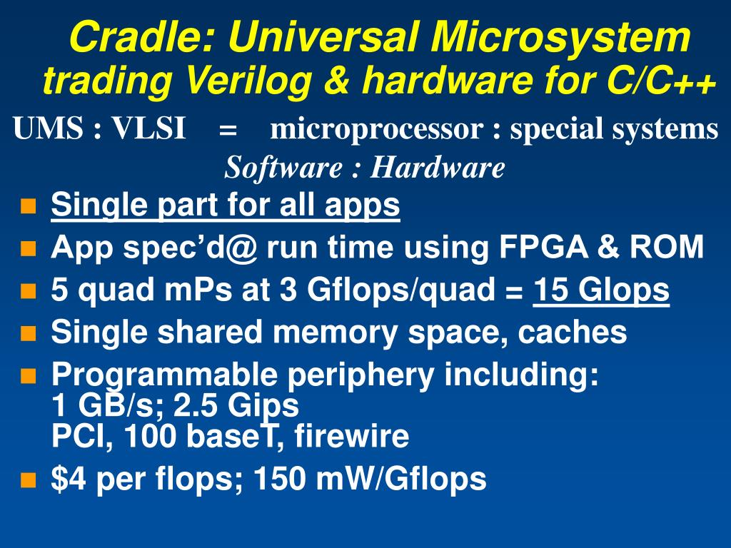 Cradle: Universal Microsystem
