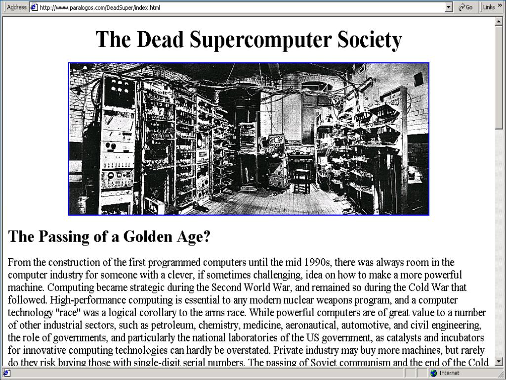 Dead Supercomputer Society