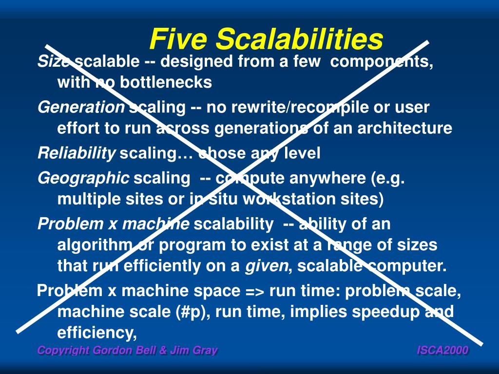 Five Scalabilities
