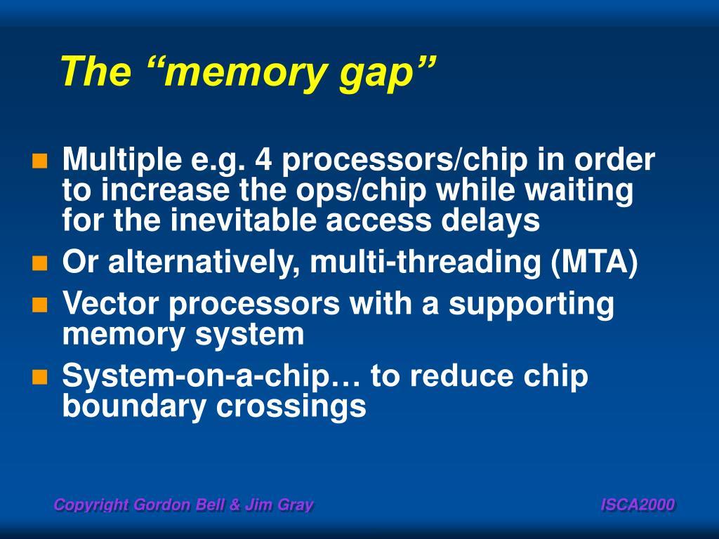 """The """"memory gap"""""""