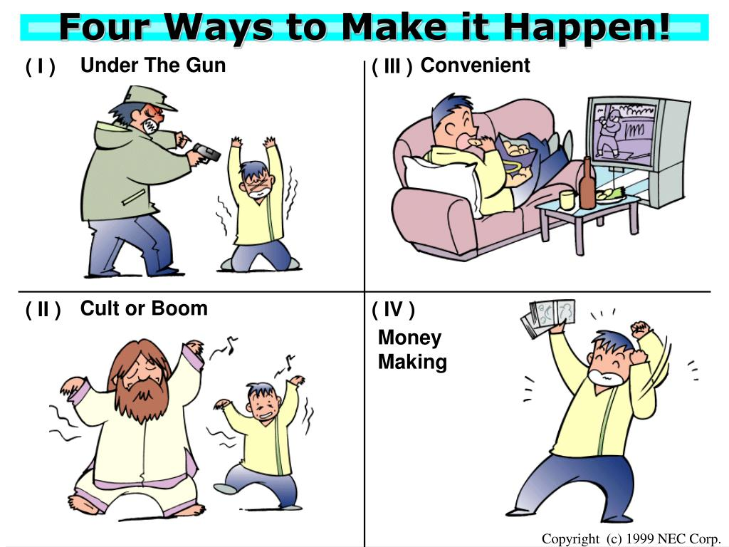 Four Ways to Make it Happen!