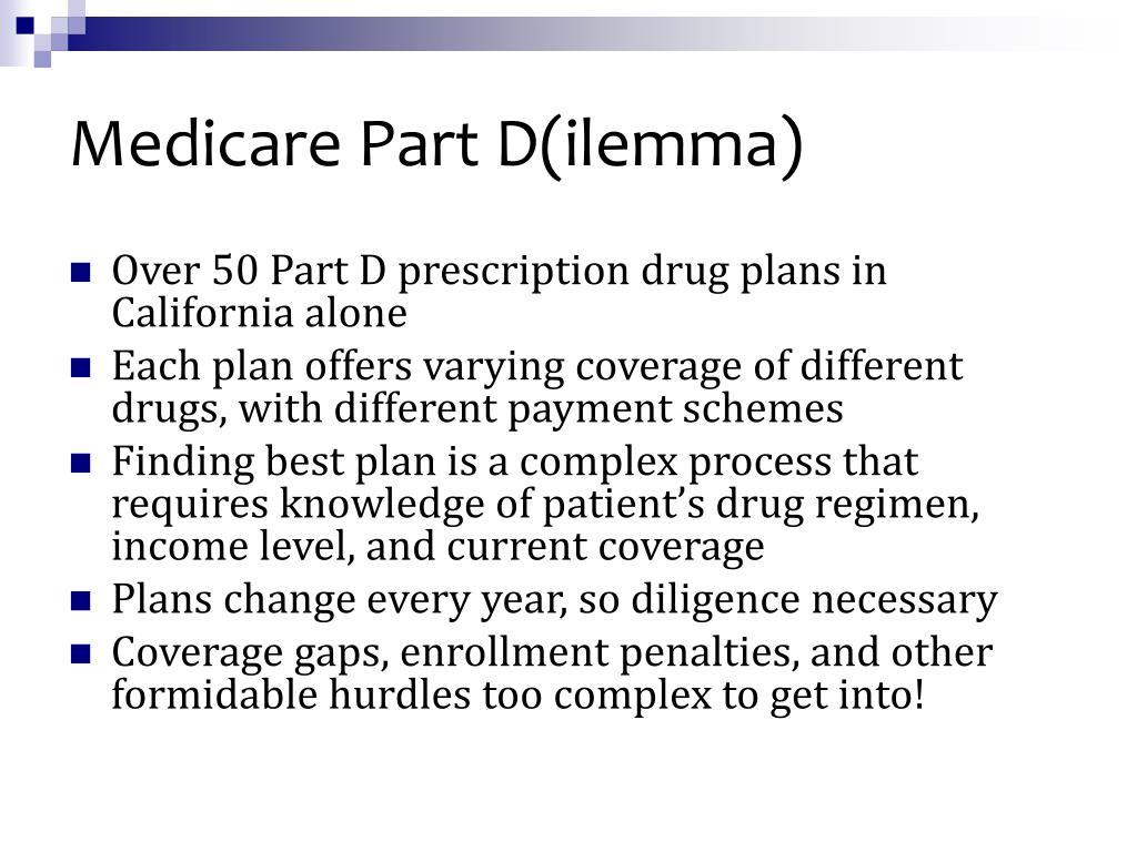 Medicare Part D(ilemma)