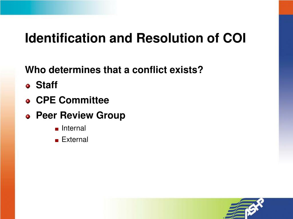 Identification and Resolution of COI