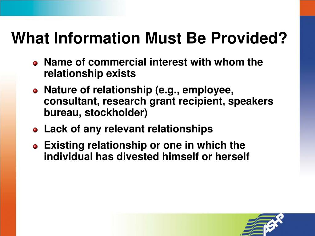 What Information Must Be Provided?