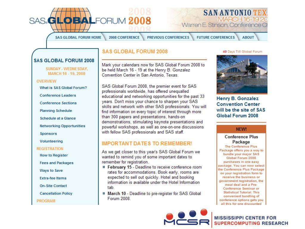SAS Global Forum
