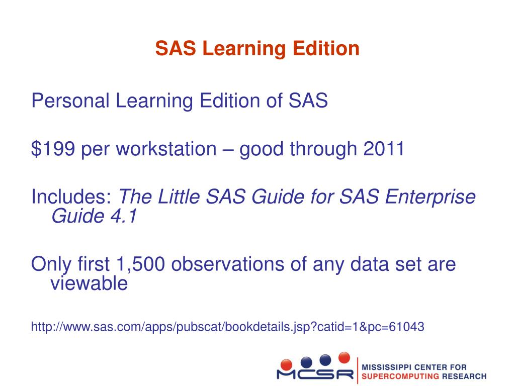 SAS Learning Edition