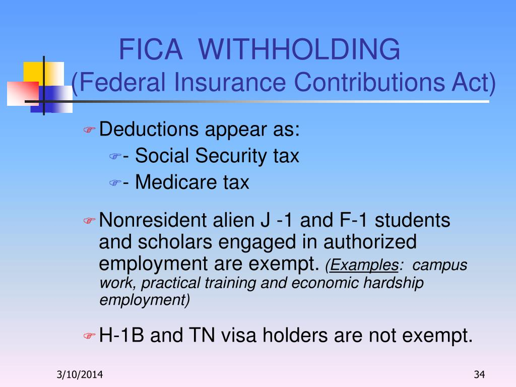 FICA  WITHHOLDING
