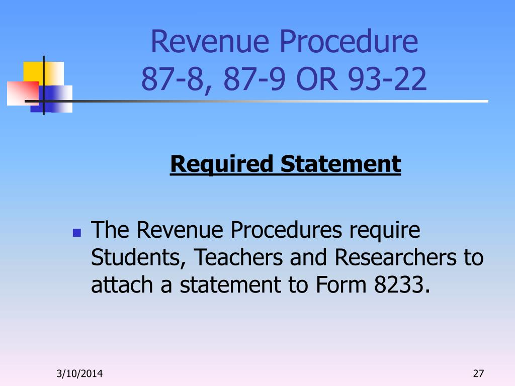 Revenue Procedure
