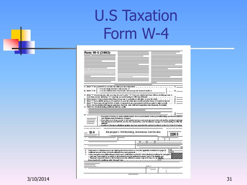 U.S Taxation