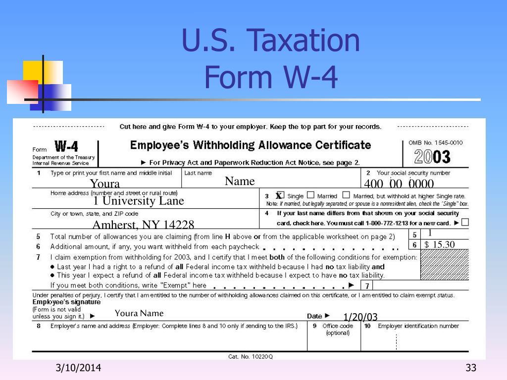 U.S. Taxation