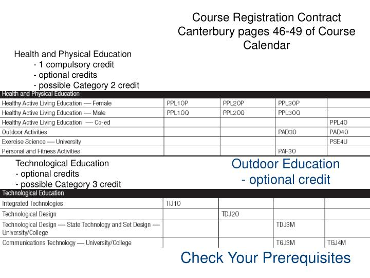 Course Registration Contract