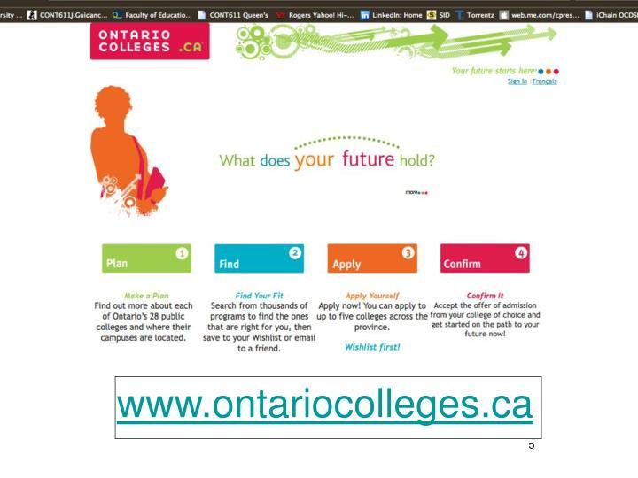 www.ontariocolleges.ca