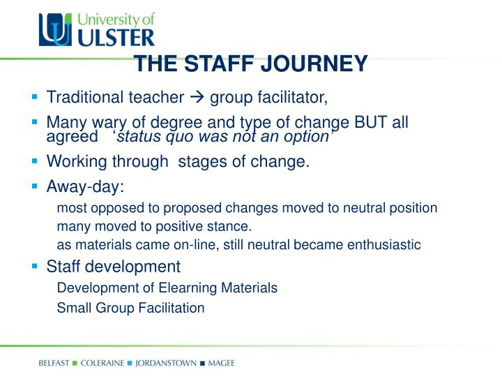 THE STAFF JOURNEY